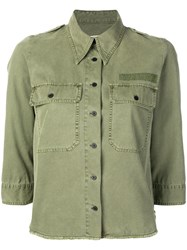 Zadig And Voltaire Toast Military Shirt Green