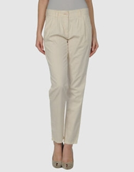 French Connection Casual Pants Ivory