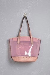 Forever 21 Studded Lucite Tote Bag Pink