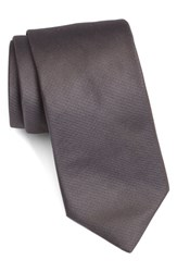 Ted Baker Men's London Solid Woven Silk Tie Smoky Grey