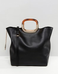 Faith Unstructured Tote Bag In Black