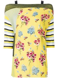 I'm Isola Marras Floral Patch Work Blouse Yellow And Orange