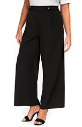 Evans Plus Size Black Wide Leg Trousers
