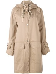 See By Chloe Ovoid Trench Coat Women Cotton 36 Nude Neutrals