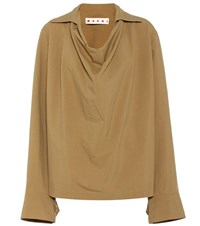 Marni Oversized Blouse Brown