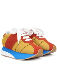 Marni Suede And Mesh Sneakers Multicoloured