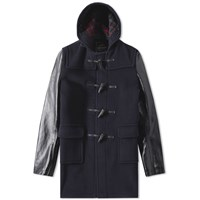 Junya Watanabe Man Eye X Gloverall Customized Duffle Coat Blue