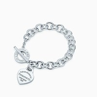 Tiffany And Co. Return To Tiffanytm Heart Tag Toggle Bracelet In Sterling Silver Large. No Gemstone