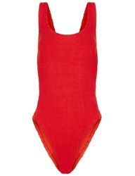 Hunza G Red Bow Side Greta Swimsuit