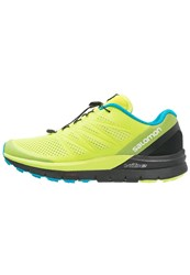 Salomon Sense Pro Max Trail Running Shoes Lime Punch Black Hawaiian Ocean Light Green