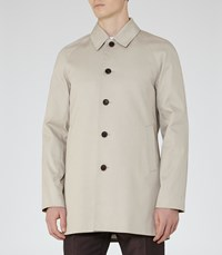 Reiss Almond Mens Cotton Blend Coat In Brown