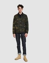 Rogue Territory Field Jacket In Waxed Olive Camo