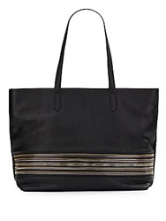 Saks Fifth Avenue Val Zip Trimmed Faux Leather Tote