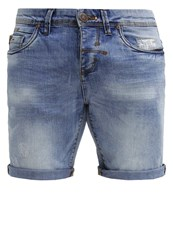 Rum Jungle Denim Shorts Light Wash Destroyed Denim