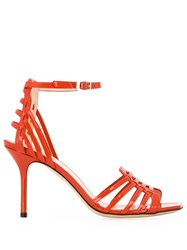 Pollini Cut Out Detail Sandals Red
