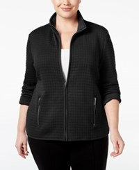 Karen Scott Plus Size Quilted Jacket Only At Macy's Deep Black
