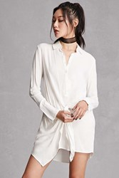 Forever 21 Wrap Front Shirt Dress