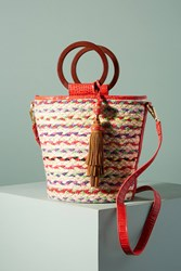 Anthropologie Gracelyn Straw Tote Bag Assorted