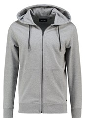 Only And Sons Onsfiske Tracksuit Top Light Grey Melange Mottled Light Grey