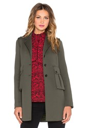 Marc By Marc Jacobs Double Pocket Peacoat Green