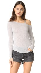 Haute Hippie Voyage Top Light Heather Grey
