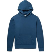 Simon Miller Raw Edged Loopback Cotton Jersey Hoodie Storm Blue