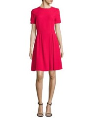 Boss Dalinkana Belted A Line Dress Ruby Red