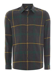 Duck And Cover Empire Long Sleeve Check Shirt Anthracite