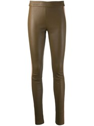 Drome Side Stripe Skinny Trousers Neutrals