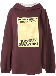 Ambush Waves Cape Hoodie Red