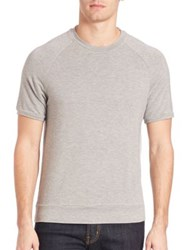 Saks Fifth Avenue Crewneck Raglan Tee Grey