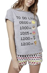 Women's Topshop 'To Do List Emoji' Pajamas