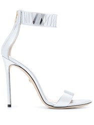 Grey Mer Heeled Sandals Silver