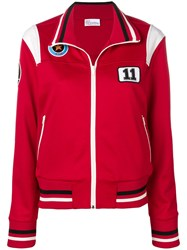 Red Valentino Patch Detailed Sweatshirt Red