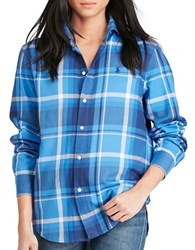 Polo Ralph Lauren Relaxed Fit Plaid Shirt Navy