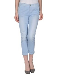 7 For All Mankind 3 4 Length Shorts Sky Blue