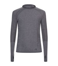 Adidas Prime Knit Long Sleeve Hooded Top Male Grey