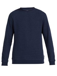 Oliver Spencer Robin Crew Neck Cotton Sweatshirt Navy