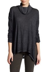 Wild Pearl Long Sleeve Cowl Neck Tunic Black
