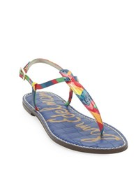 Sam Edelman Gigi Leather Thong Sandals Multi Colored