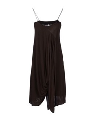 Pierantonio Gaspari Knee Length Dresses Dark Brown