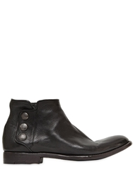 Alberto Fasciani Buttoned Buffalo Leather Ankle Boots Black