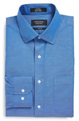 Men's Big And Tall Nordstrom Trim Fit Non Iron Dress Shirt Blue French