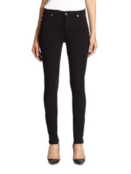 7 For All Mankind High Waist Skinny Double Knit Jeans Black