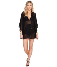 Lablanca Beyond The Beach Hooded Poncho Cover Up Black Women's Swimwear