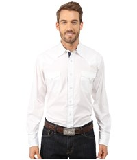 Roper 9810C2 Solid White Poplin White Men's Clothing