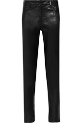 Mason By Michelle Mason Cropped Leather Skinny Pants