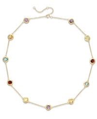 Victoria Townsend Multi Stone Collar Necklace In 18K Gold Over Sterling Silver 12 Ct. T.W.