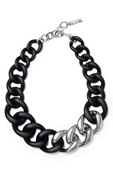 Lafayette 148 New York Women's Chain Link Necklace Black