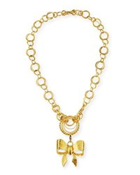 Jose And Maria Barrera 24K Gold Plated Bow Pendant Necklace